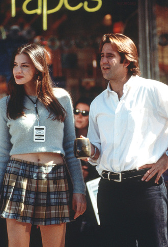 skirt liv tyler plaidskirt blouse