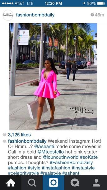 dress hot pink