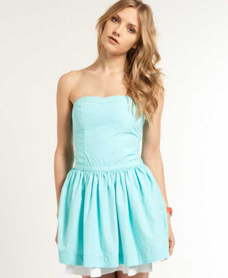 Womens - 50s Dress in Aqua | Superdry