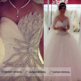 dress prom dress wedding dress crystal wedding dress