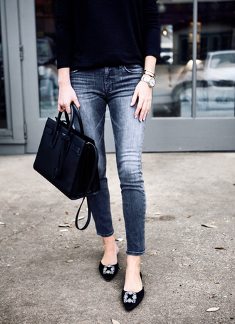 krystal schlegel blogger top jeans bag dress handbag spring outfits