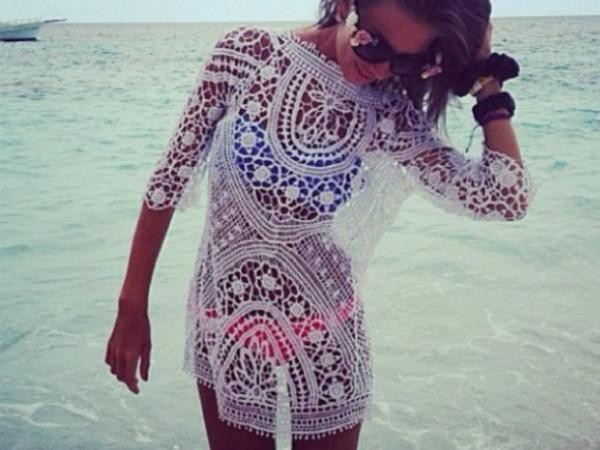 dress lace dress lace white dress summer dress boho chic bohemian dress hippie