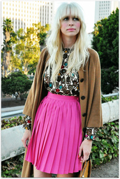 pleated,pink skirt,fancy tree house,skirt