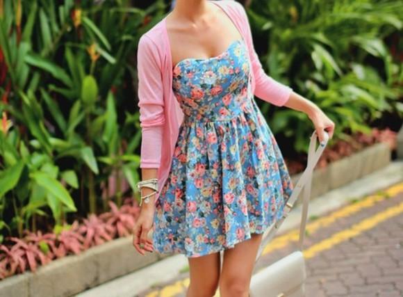 floral strapless dress floral floral colorful floral