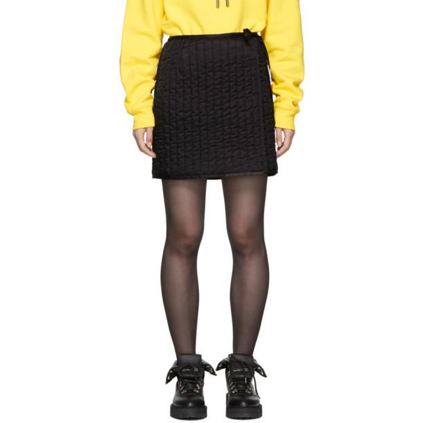 Off-White Black Quilted Miniskirt