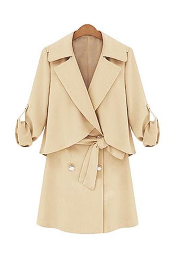 Elegant Style Lapel Belt Coat [FEBK0231]- US$ 55.99 - PersunMall.com