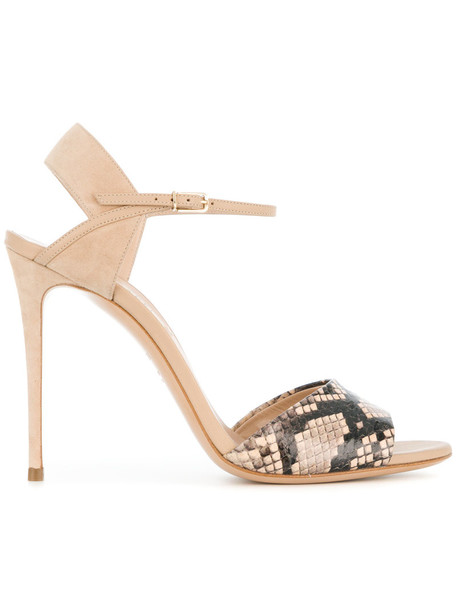 CASADEI snake women king sandals leather nude shoes