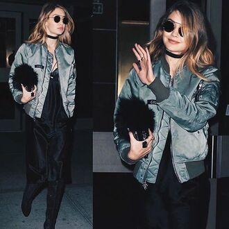 jewels jewel cult jewelry necklace choker necklace black choker gigi hadid model model off-duty fashion week fashion week 2016 ny fashion week 2016