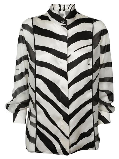 lanvin shirt zebra print zebra print top