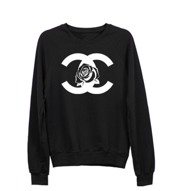 sweater chanel inspired coco black sweater rose chanel fuck chanel black sweater graphic. Black Bedroom Furniture Sets. Home Design Ideas