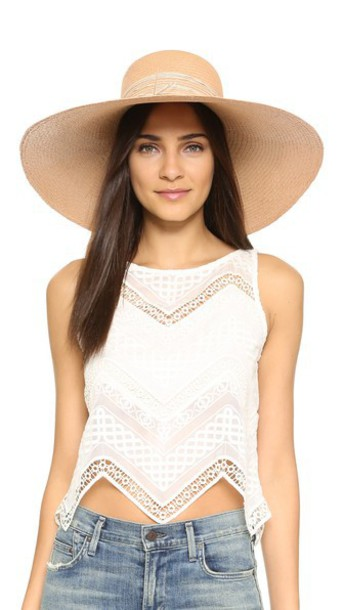 Artesano Playa Hat - Coral/Cream