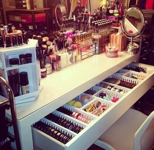nail polish dresser make-up makeup table jewels makeup table home decor bag swimwear make-up home accessory dresser white love