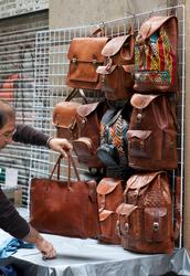 bag,leather,brown,black,backpack,shoes