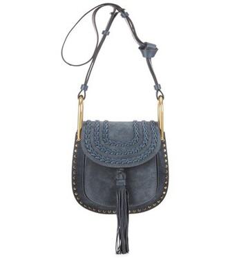 mini bag shoulder bag suede blue