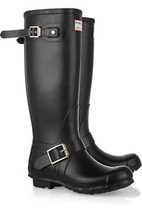 Hunter Jimmy Choo Motor Wellington Wellies Tall Boots Anthracite 7 38 | eBay
