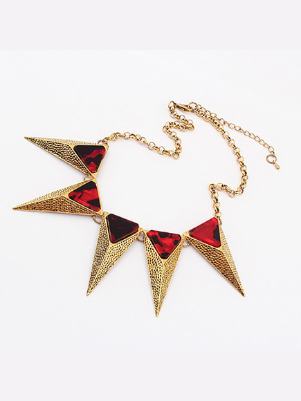 cute fashion jewels original acsessories girly vintage necklace triangle fashion jewelry