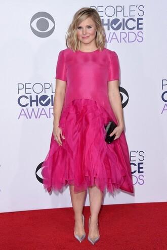 kristen bell pink dress
