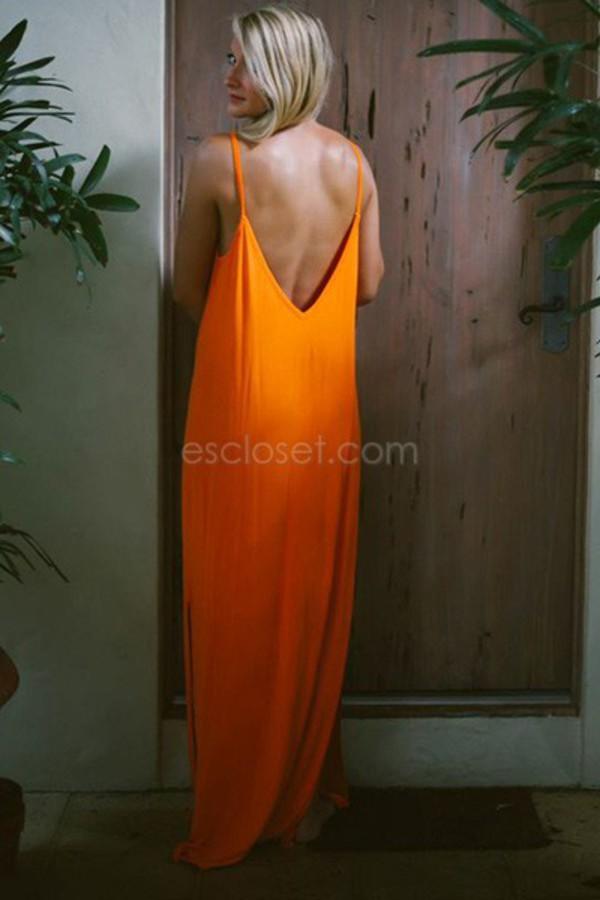 maxi maxi dress orange