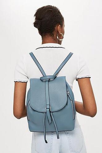 zip backpack blue bag