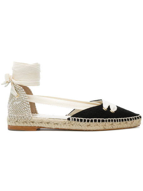 CASTAÑER women espadrilles lace leather cotton black shoes