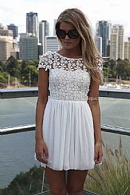 Splended angel dress (expected delivery 15th march, 2014) , dresses, tops, bottoms, jackets & jumpers, accessories, 50% off sale, pre order, new arrivals, playsuit, colour, gift voucher,,white,lace,short sleeve,mini australia, queensland, brisbane