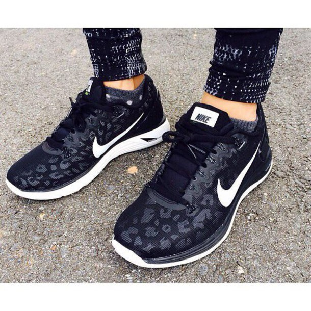 Nike Grey Leopard Print Shoes