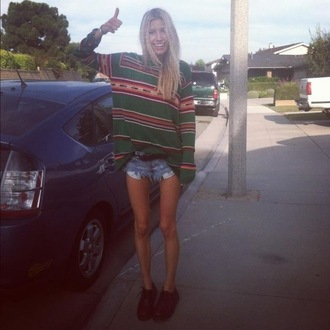 sweater hippie grunge indie boho oversized sweater aztec top aztec
