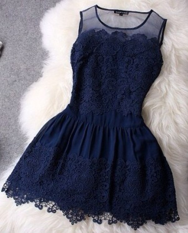 dress blue dress chic dress