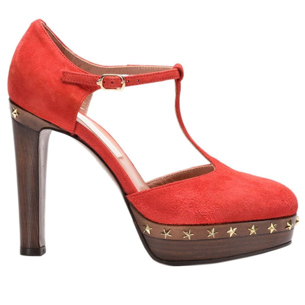 women pumps shoes red