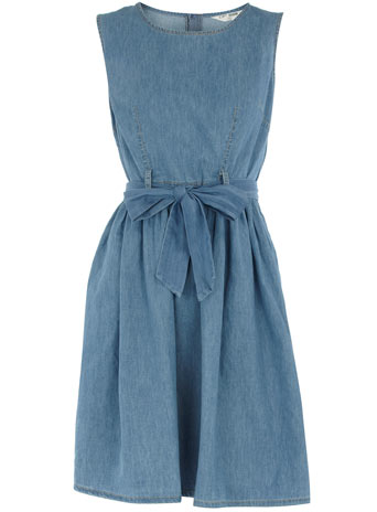 Bleach denim prom dress