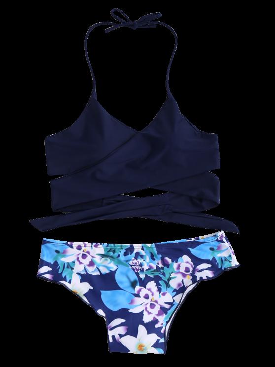 String Floral Panel Bikini Set
