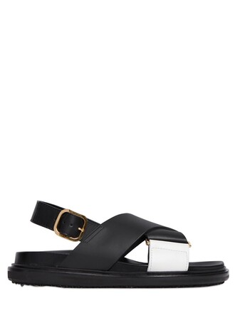 sandals leather sandals leather white black shoes