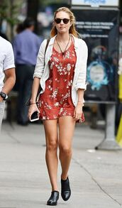 dress,shirt,summer dress,candice swanepoel,ankle boots,shoes,model off-duty