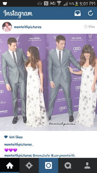 dress lea michele