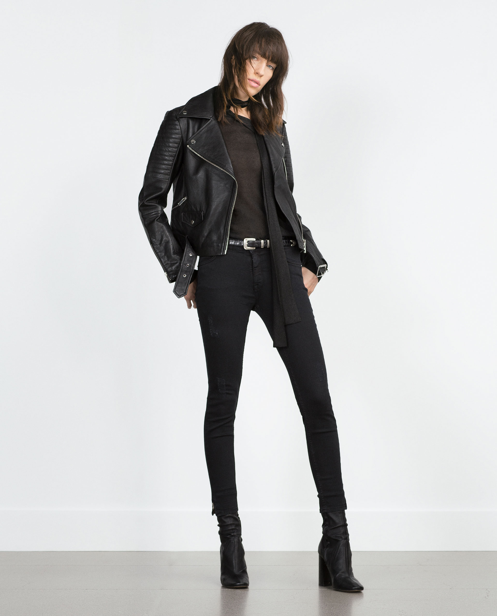 leather jacket leather woman sale zara united states
