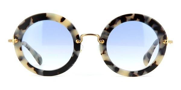 db4a7ec50acd Miu Miu MU 13NS HA08V1 White Havana Sunglasses