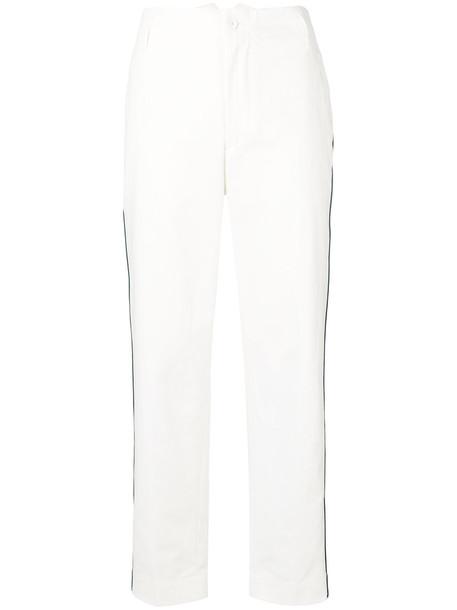GOLDEN GOOSE DELUXE BRAND women white cotton pants