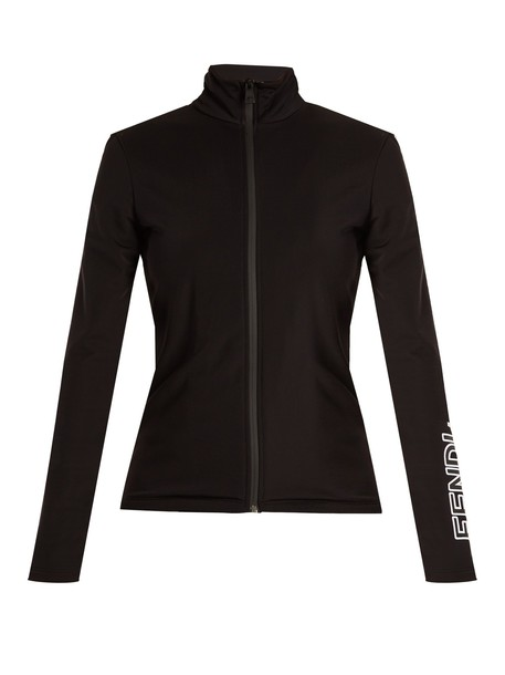 Fendi sweatshirt zip black sweater
