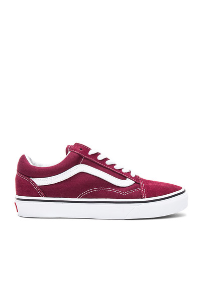 VANS burgundy shoes