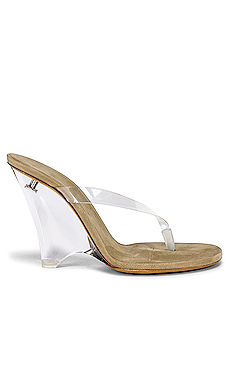 YEEZY SEASON 8 PVC Wedge Thong Sandal in Clear from Revolve.com
