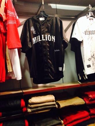 shirt baseball tee urban jersey baseball