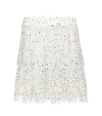 skirt chiffon skirt chiffon white