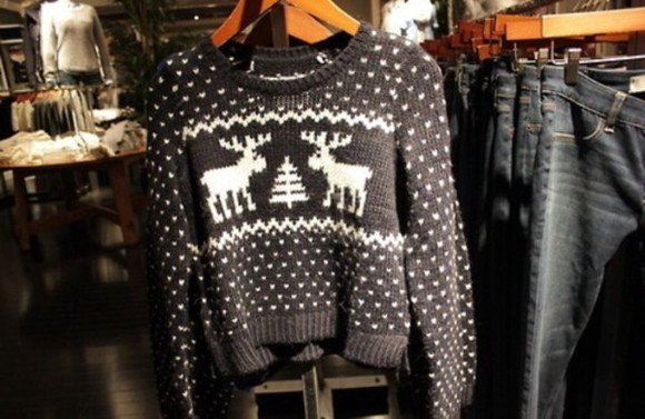 deer christmas winter sweater snow brown christmas sweater brown winter sweater brown sweater christmas sweater deer sweater tree sweater tree snow sweater snowflakes