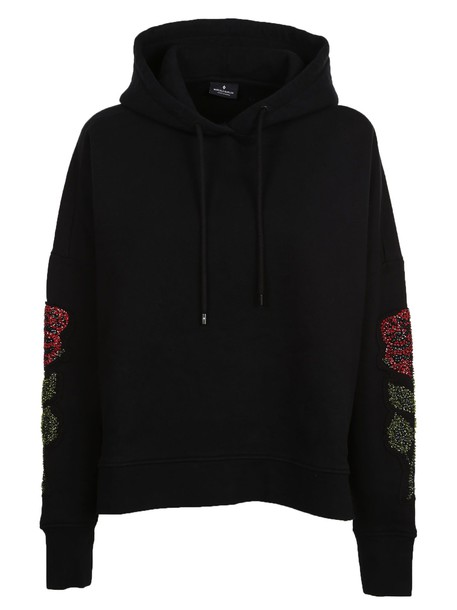 Marcelo Burlon hoodie embroidered black sweater
