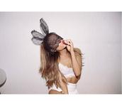 hair accessory,bunny,headband,hair,ariana grande,bunny ears,rabbit ears