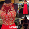 Niceoo dresses | gorgeous red round neck floor length prom dresses with open scoop back