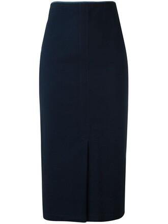 skirt women spandex cotton blue