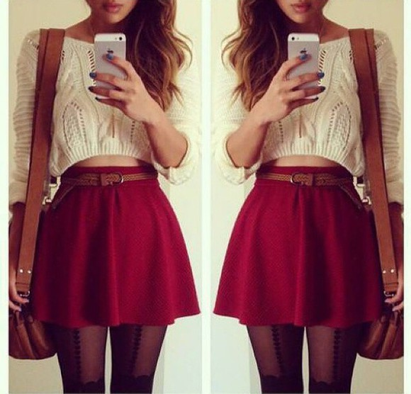 skirt sweater blouse top outfit jumper s'cute