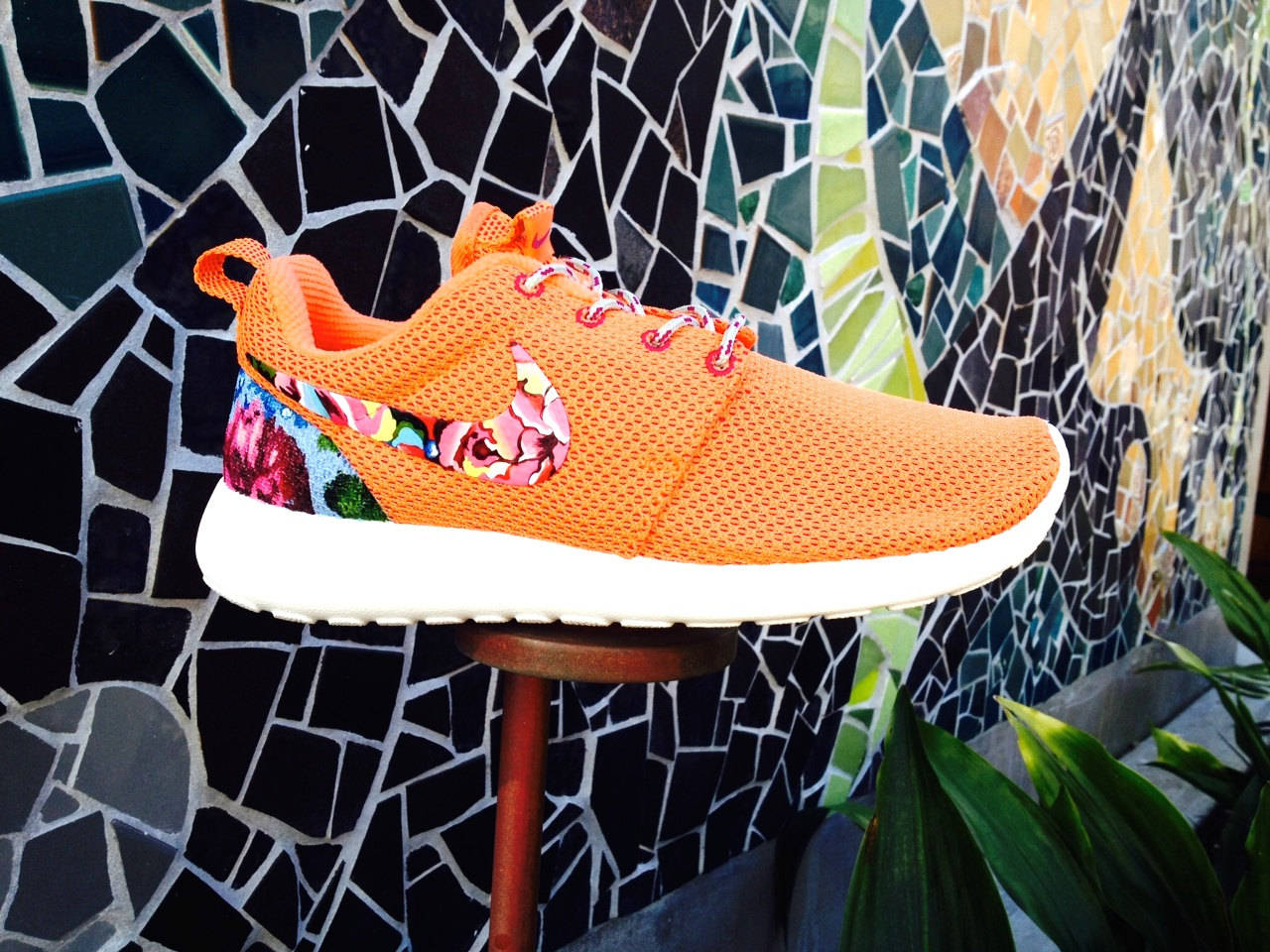 Nike roshe runs with floral ( art only )