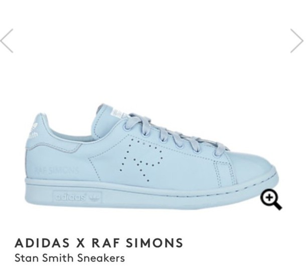 release date: 58969 4f0c5 shoes raf simons stan smith adidas shoes light blue